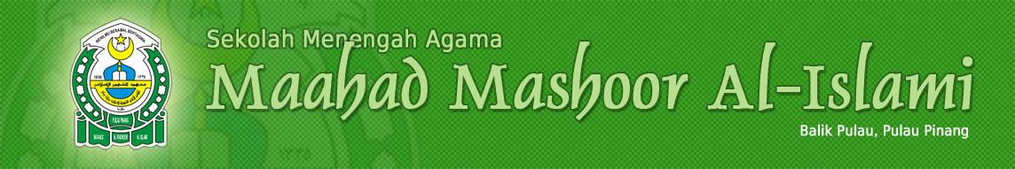 Sekolah Menengah Agama Maahad Al Mashoor Al Islami